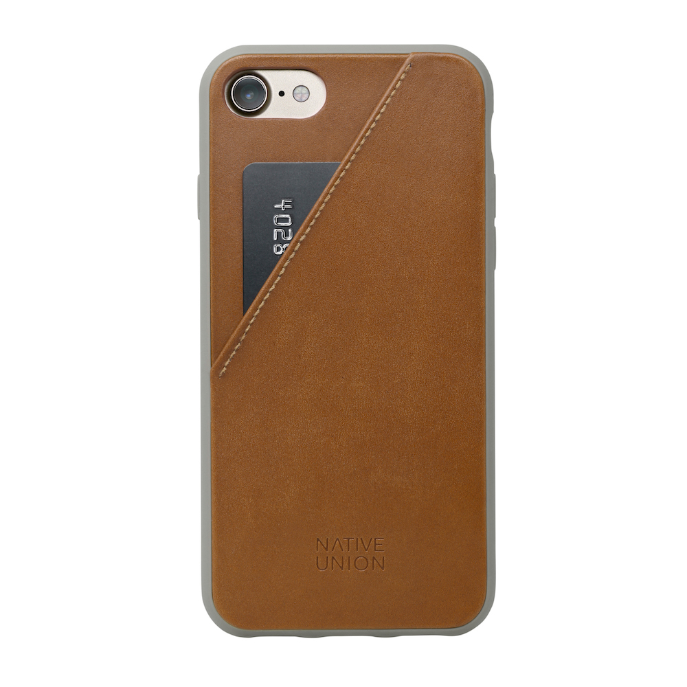 Leather phone case with credit card