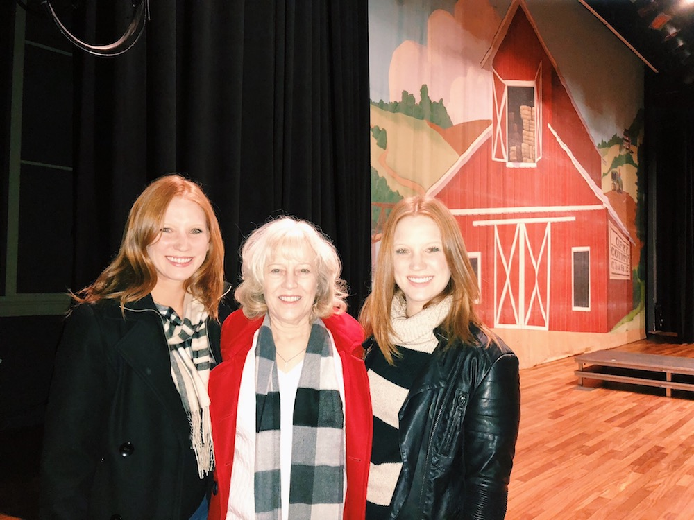 Ryman stage with twins and mother