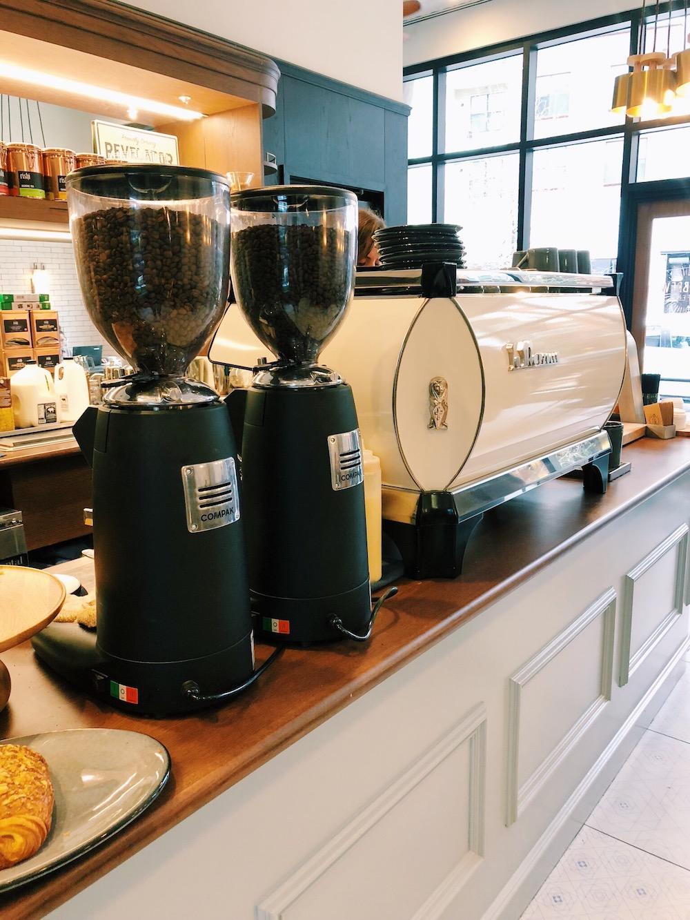 Old school espresso machine