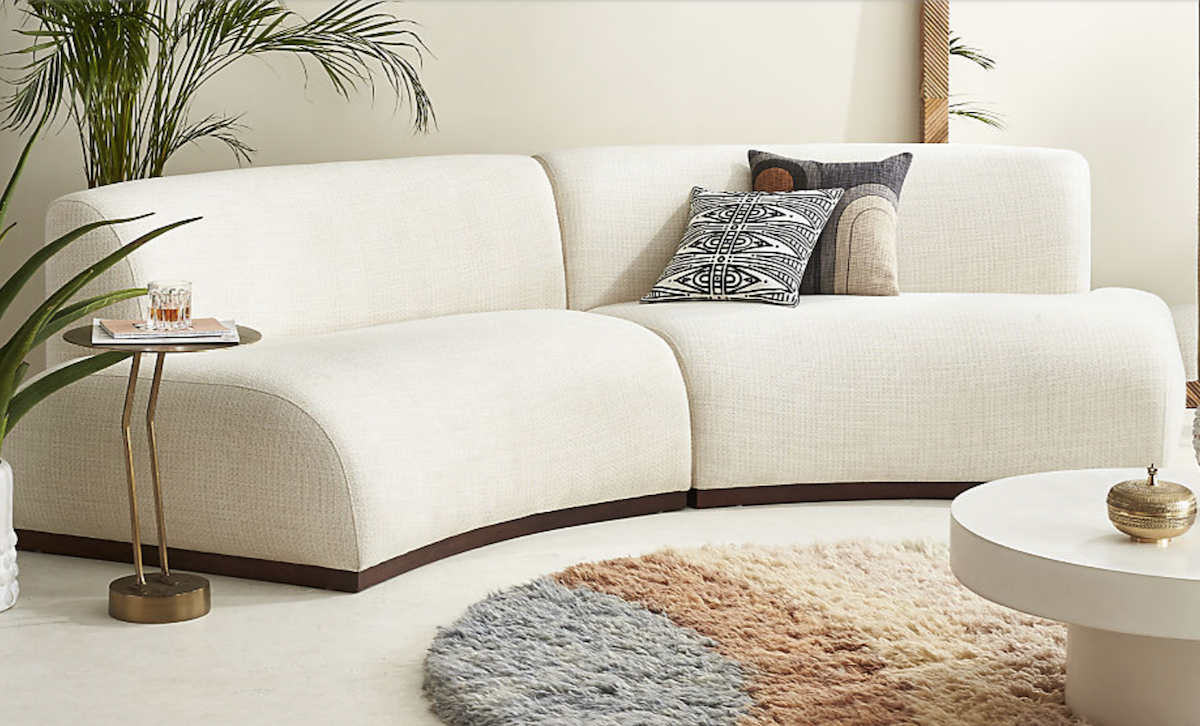 Semi circle couch from cb2