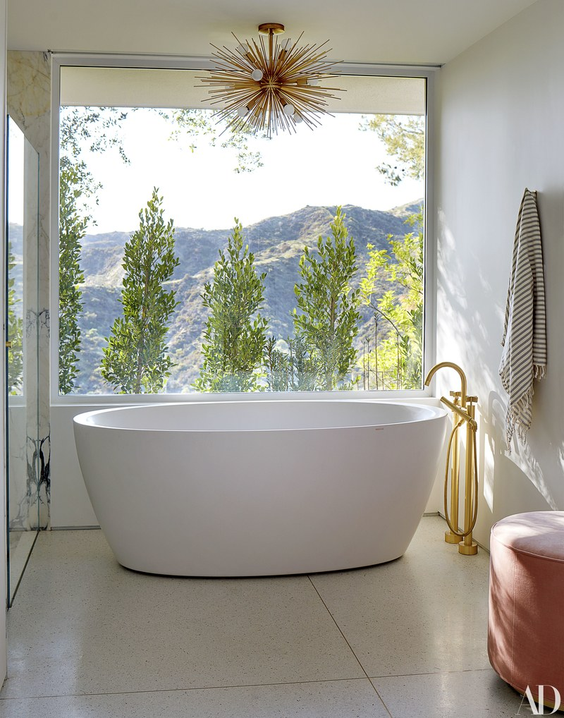 Imagine coming home after a long day & soaking in this  Aquatica  freestanding tub overlooking the mountains – so picturesque & relaxing.