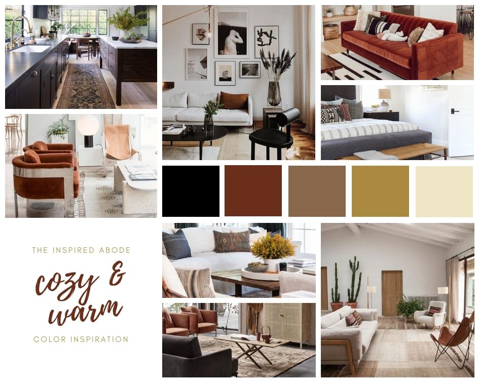 Cozy & Warm Color Palette Inspiration for Home Décor