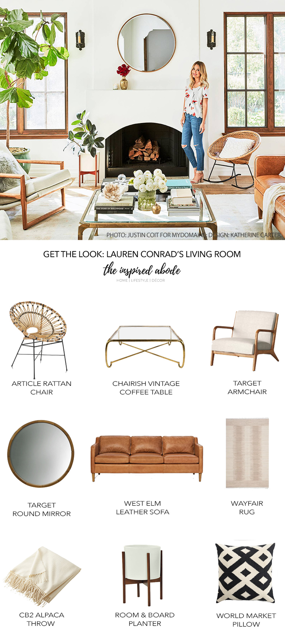 Get the Look: Lauren Conrad's California-Cool Living Room in the Pacific Palisades