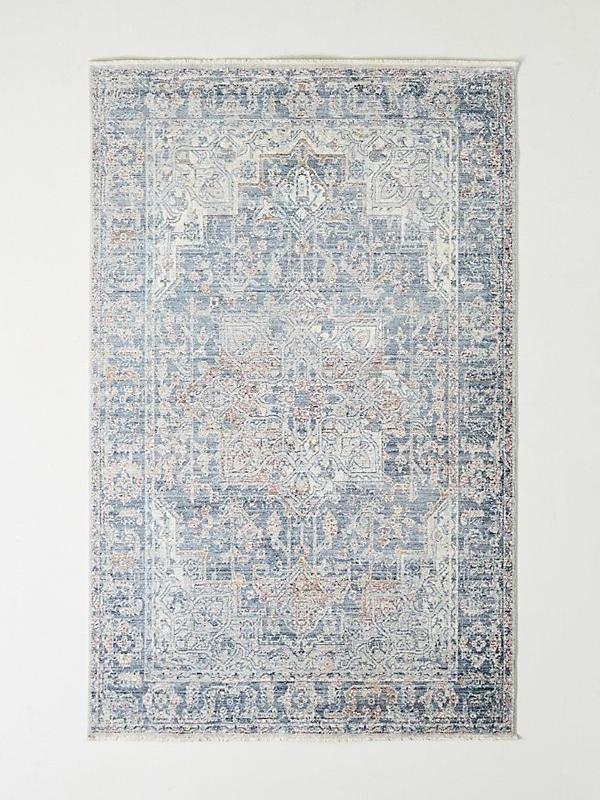 Joanna Gaines for Anthropologie Isabel blue vintage inspired rug