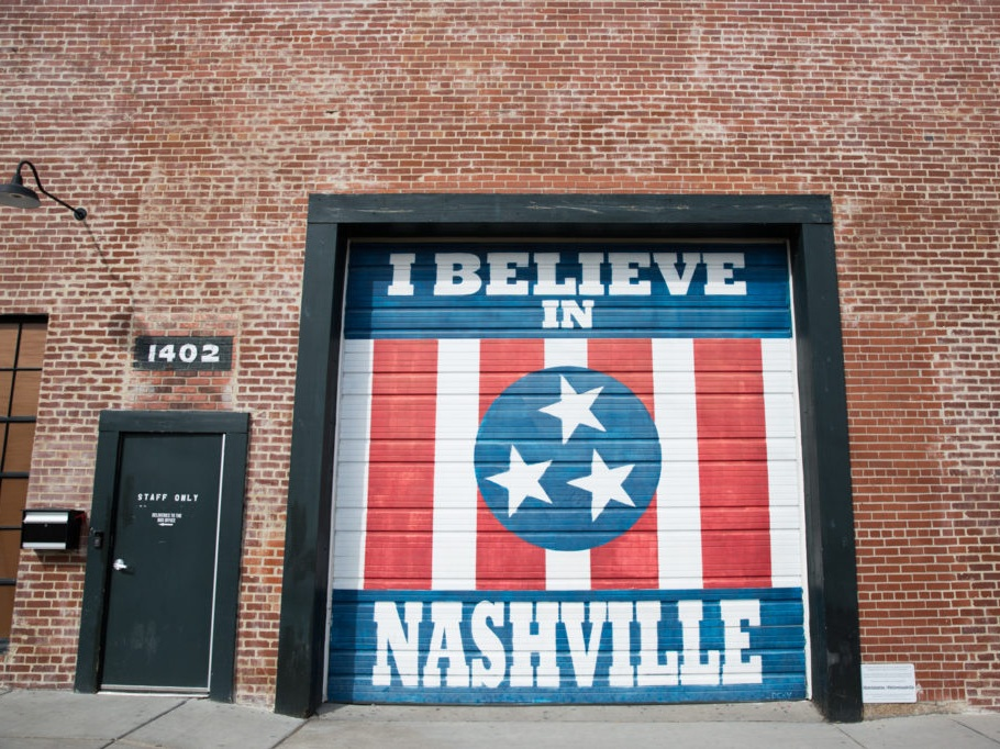"""I Believe in Nashville"" Mural, Marathon Village"