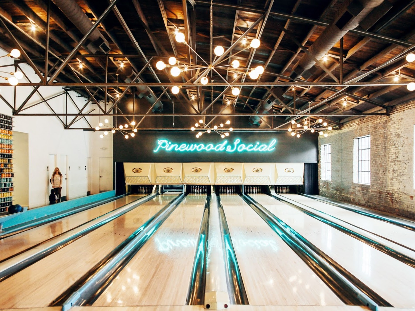Bowling Alley at Pinewood Social