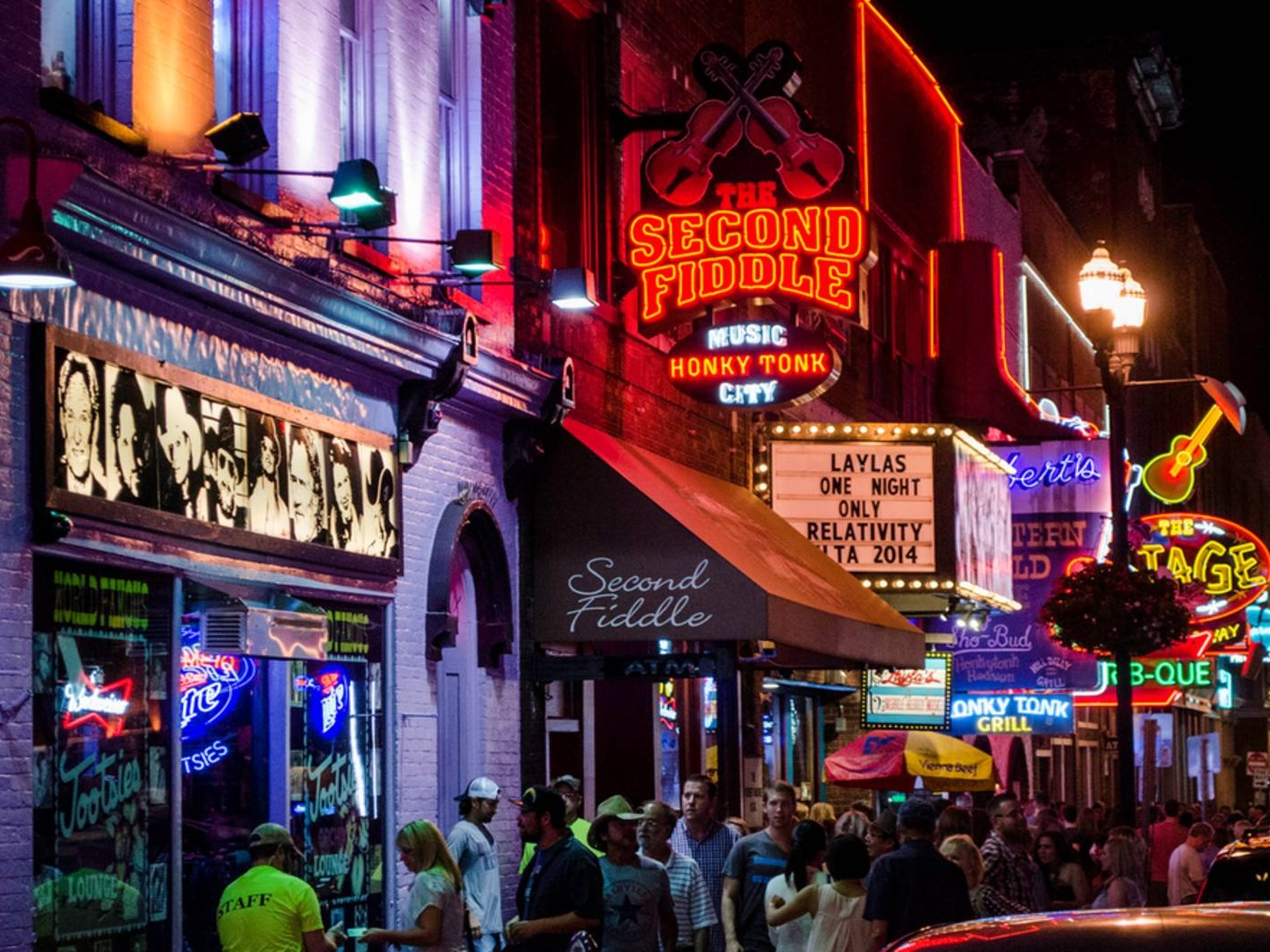 Broadway, Lined with Bars & Music venues