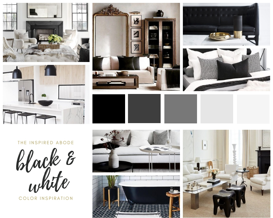 Black and White Home Décor Inspiration
