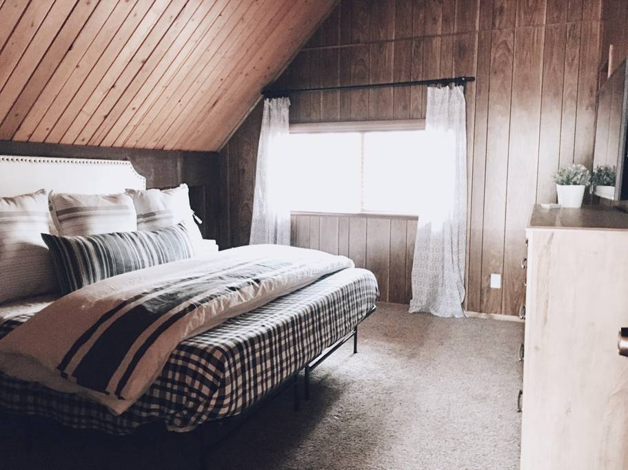 Lifestyled Co Modern A-Frame Bedroom