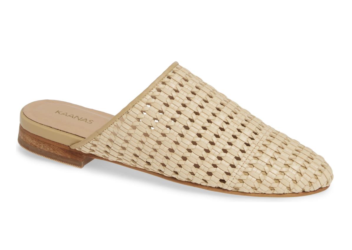 """Naxos"" - Basket-weave mule in Natural, $149; Nordstrom"