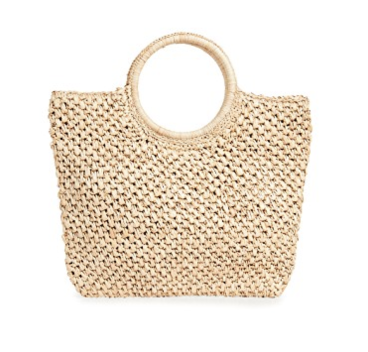 Woven Bag - Small round-handle Hat Attack bag, $105; Shopbop