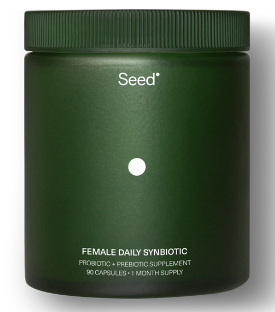 Seed - Female Daily Synbiotic, $50 for 90 capsules; SeedWe're super intrigued by this synbiotic (prebiotic + probiotic) supplement. Gotta love good branding & an informative webpage. The product comes via a subscription service that Karlie Kloss uses & they also have a male counterpart as well.