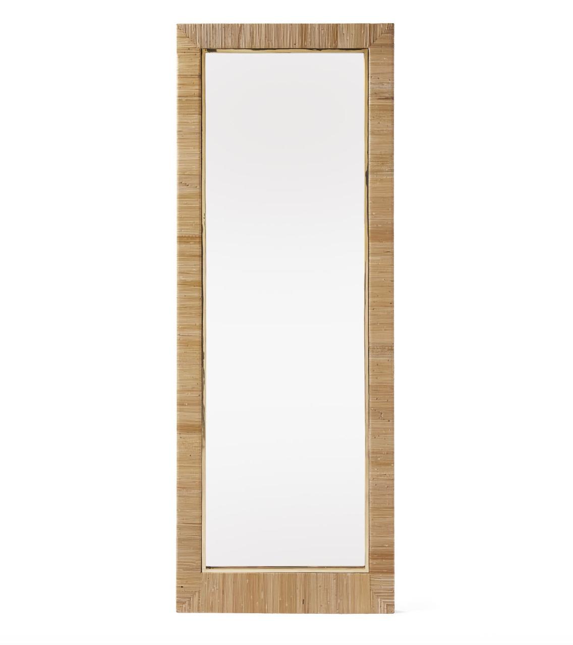 """Balboa"" - Rattan floor mirror, $1,298; Serena & Lily"