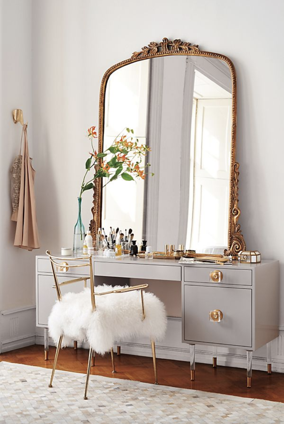 """Primrose"" - Gleaming ornate gold mirror, $448-1,548; Anthropologie"
