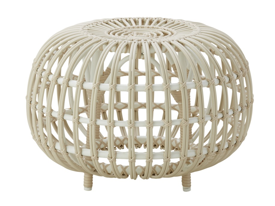 """Noomi"" - Indoor/outdoor ottoman, $656; Lulu & Georgia"