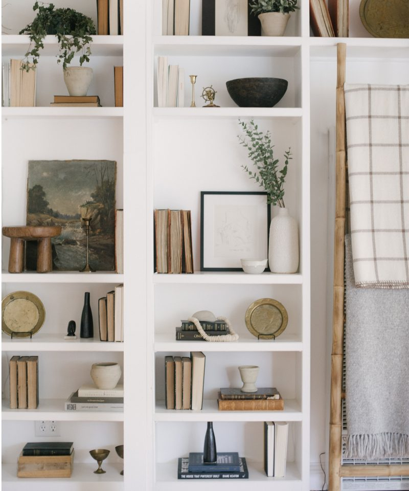 Vintage-Chic Shelf Built-In Styling | JDP Interiors | Stanley Project