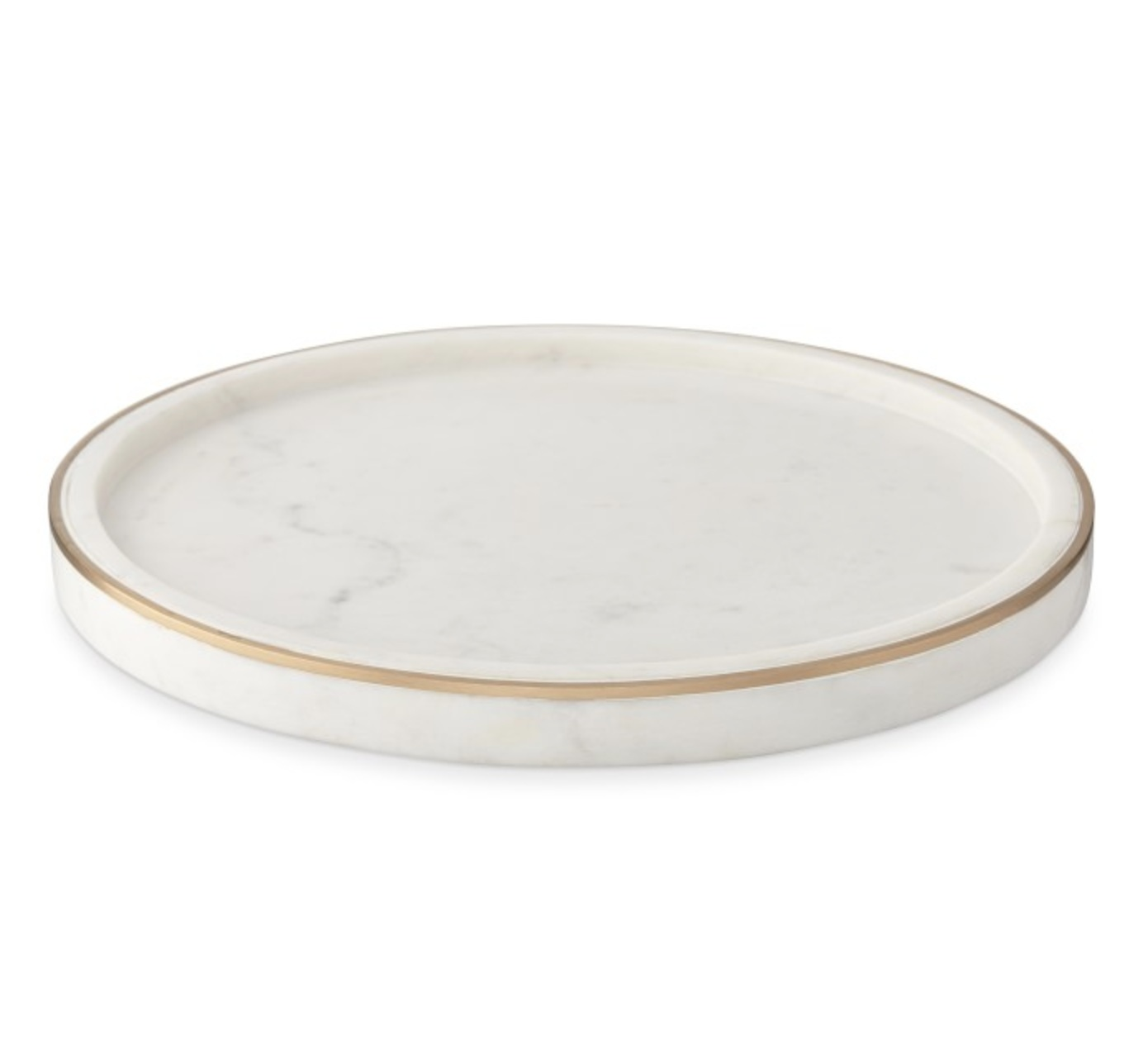 Marble & Brass - Vanity tray, $55; Williams-Sonoma