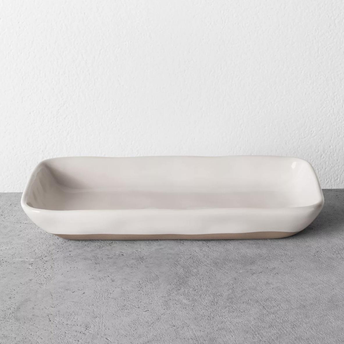 Cream Tray - Hearth & Hand Magnolia bathroom tray, $11.99; Target