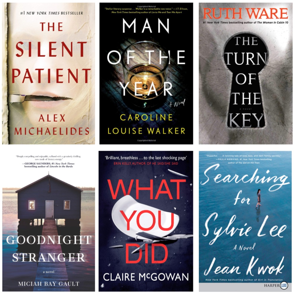 Books to read this summer:The Turn of the Key, The Silent Patient, Goodnight Stranger, Searching for Sylvie Lee, Man of the Year, What You Did
