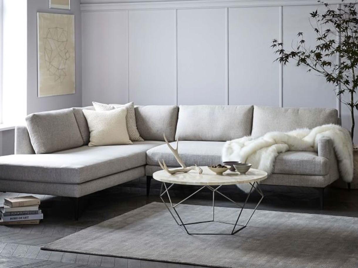 """""""Andes"""" - Terminal chaise sectional, $2,798 - $3,898; West Elm"""