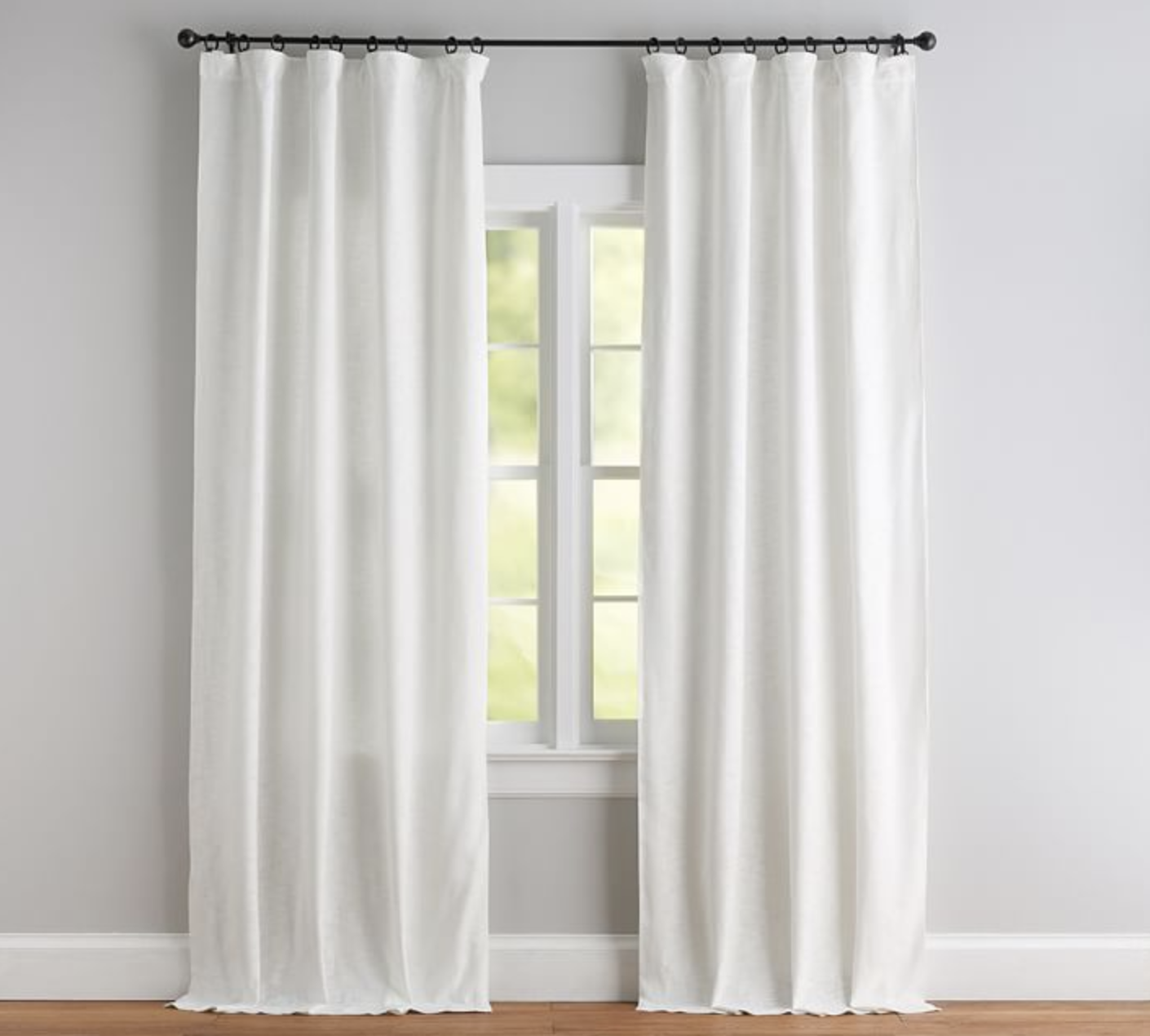 """""""Seaton"""" - Textured curtain, starting at $99; Pottery Barn"""