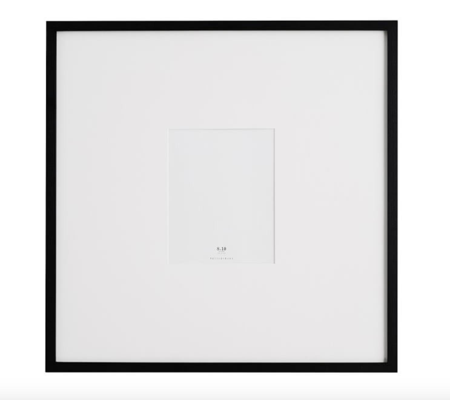 "gallery frame - Oversized 25"" square frame, $115; Pottery Barn"