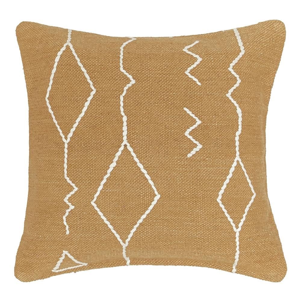 Sarah Sherman Samuel for Lulu & Georgia Moroccan Flatweave Pillow in Ochre
