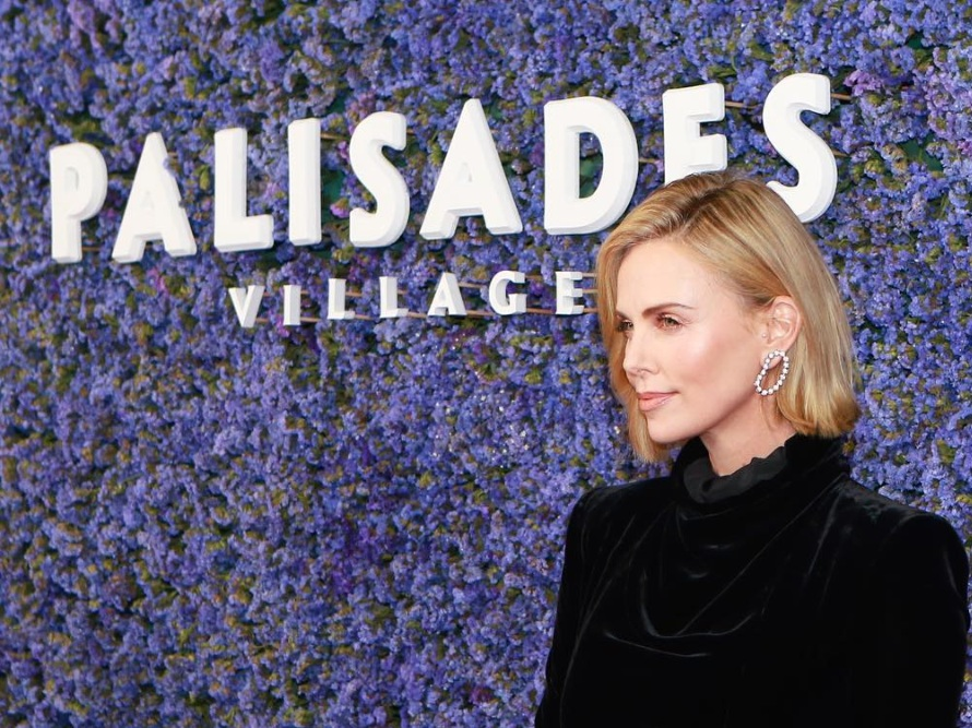 Charlize Theron at Palisades Village – her skincare favorites here.