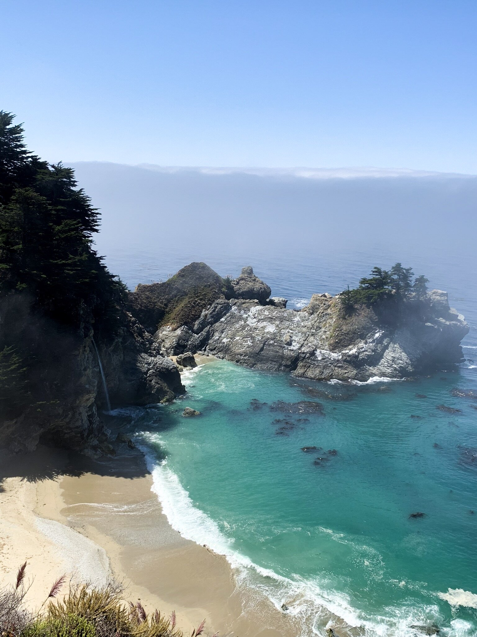 McWay Falls lookout point en route through Big Sur