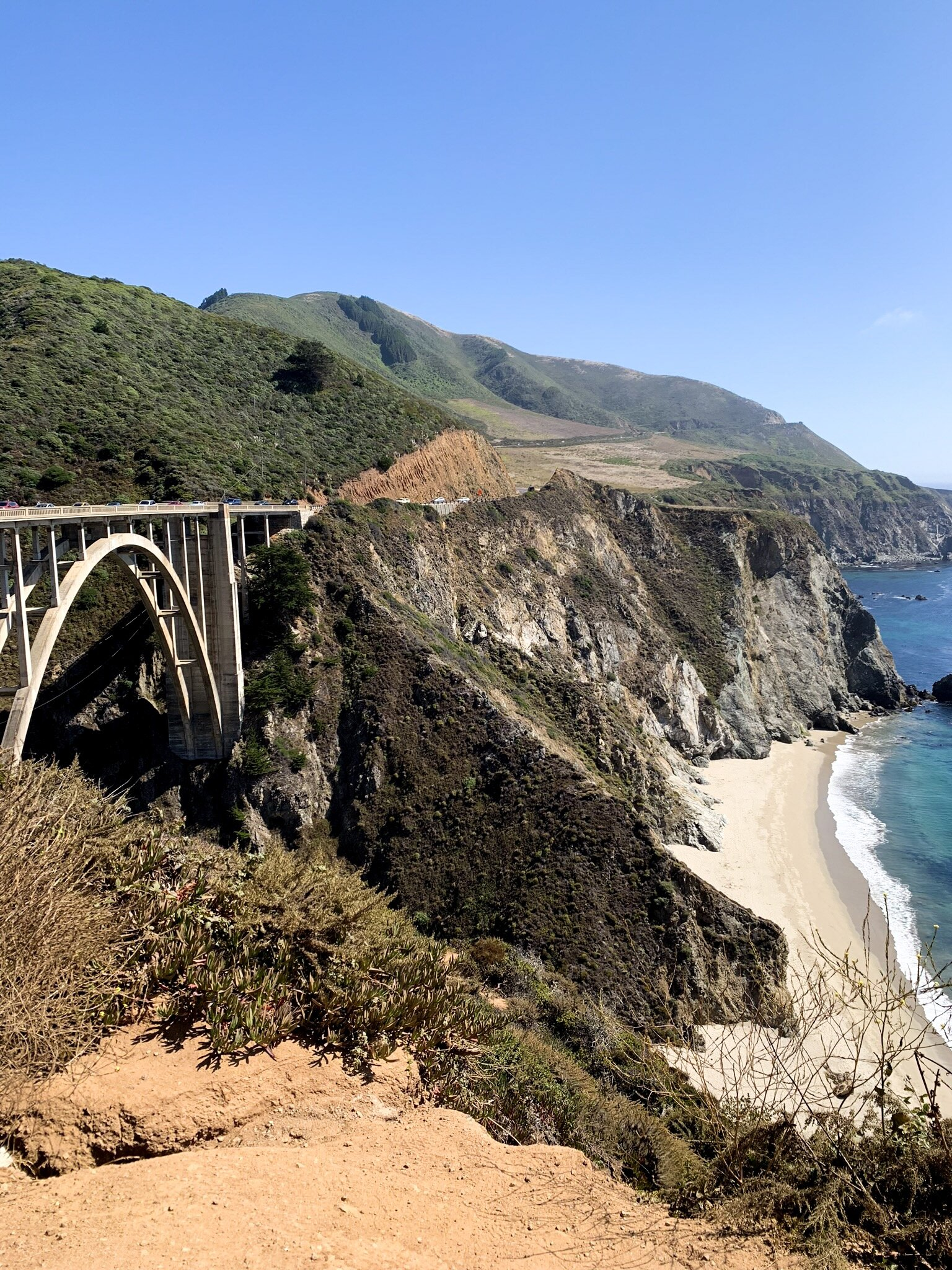 Bixby Bridge en route to Monterey, California after Big Sur