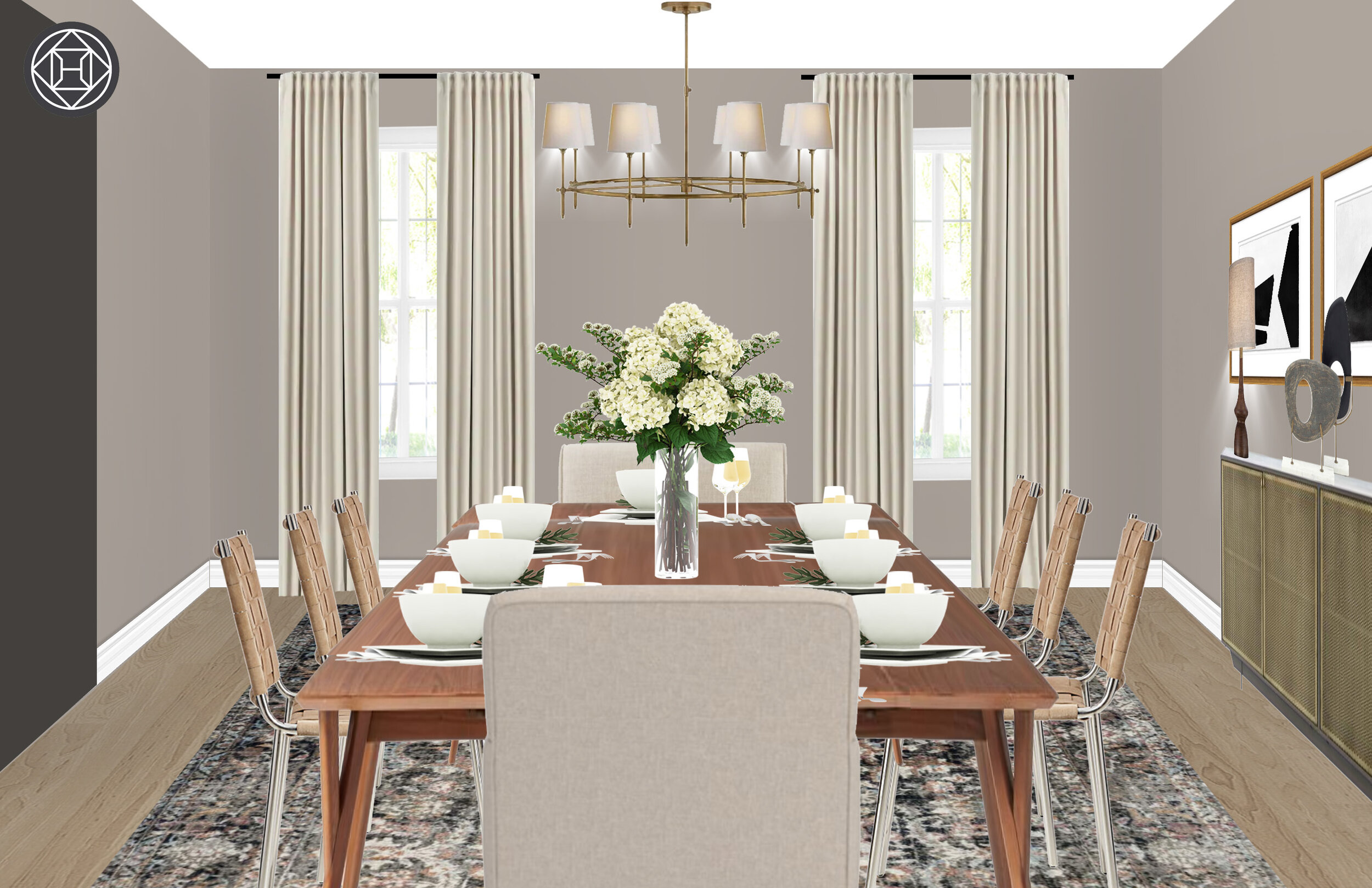 The Inspired Abode - E-Design Services - Formal Dining Room in Houston, Texas