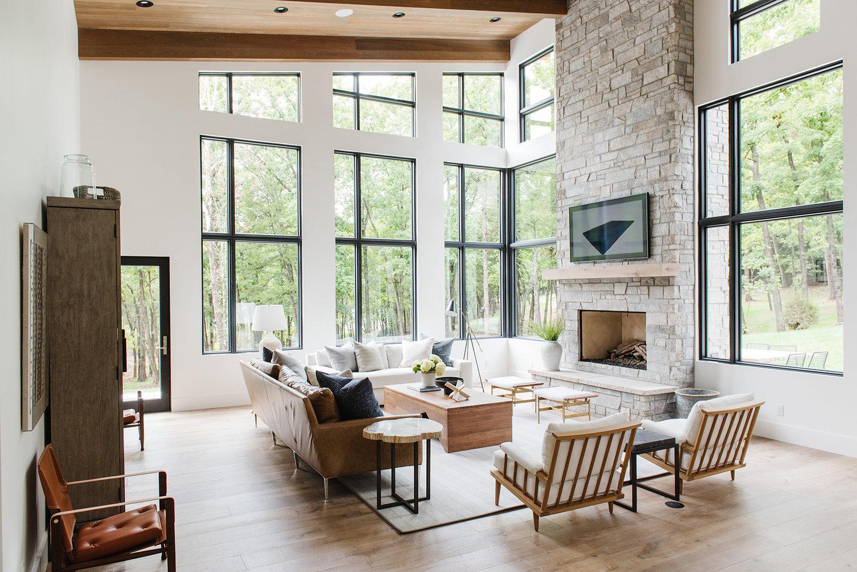 Studio McGee - Modern Lake House - Formal Living Room
