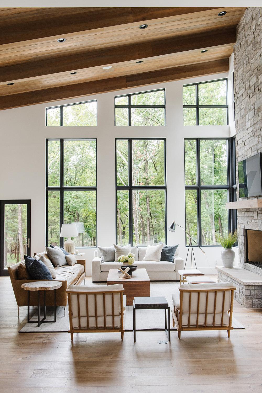 Studio McGee - Modern Lake House - Living Room