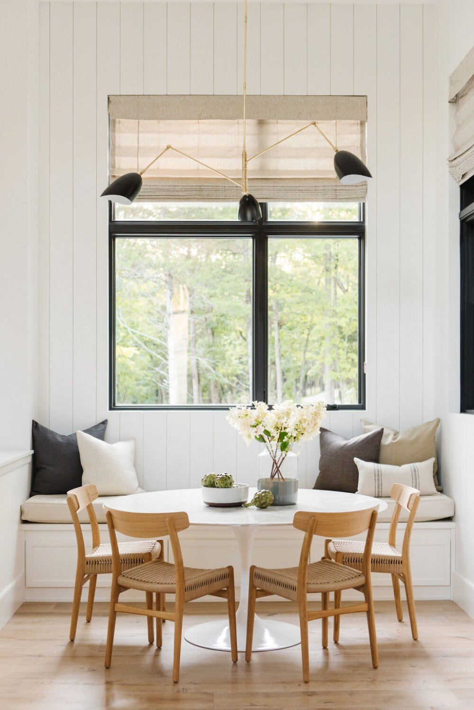 Studio McGee - Modern Lake House - Dining Nook