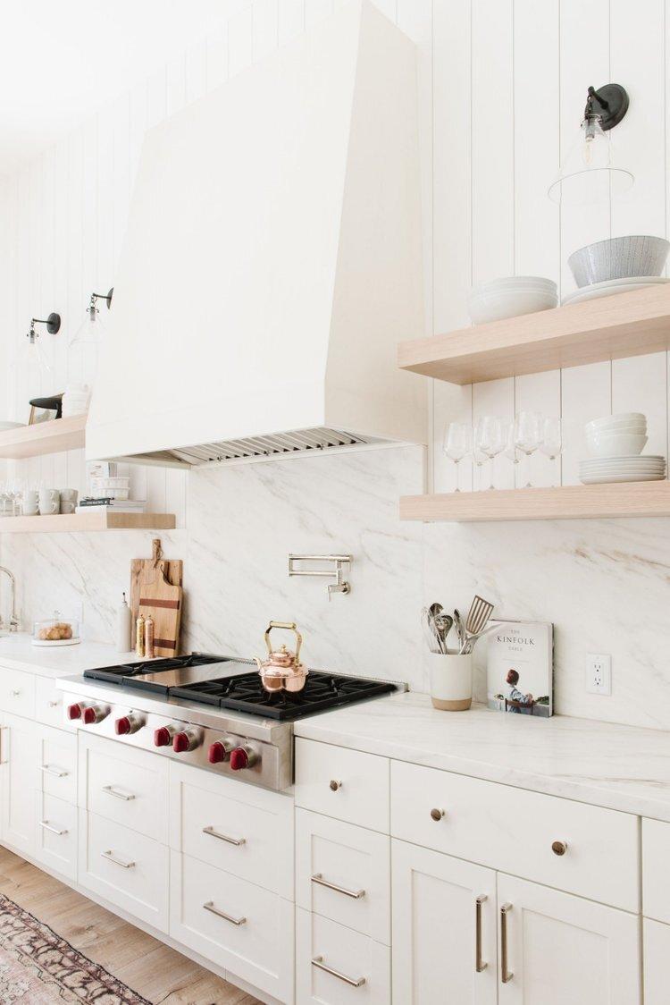 Studio McGee - Modern Lake House - White Kitchen