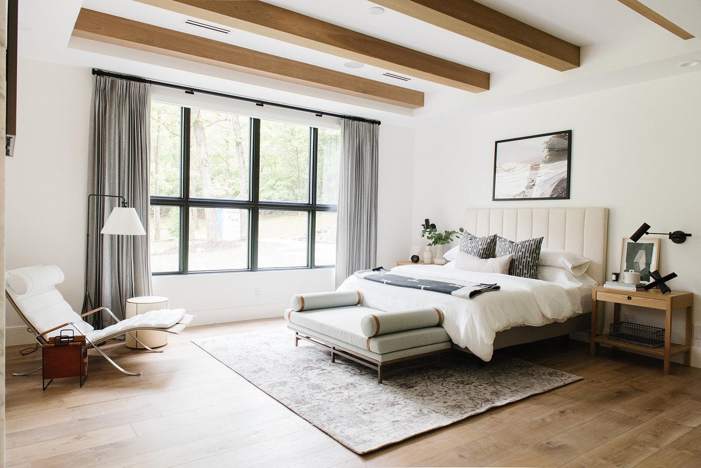 Studio McGee - Modern Lake House - Master Bedroom