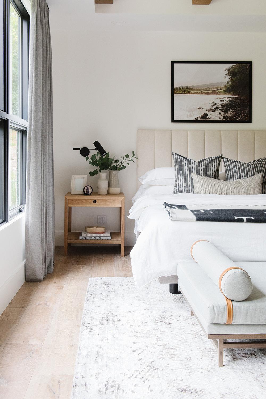 Studio McGee - Modern Lake House - Master Bed