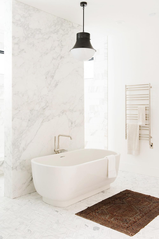 Studio McGee - Modern Lake House - Master Bathroom