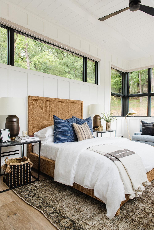 Studio McGee - Modern Lake House - Bedroom