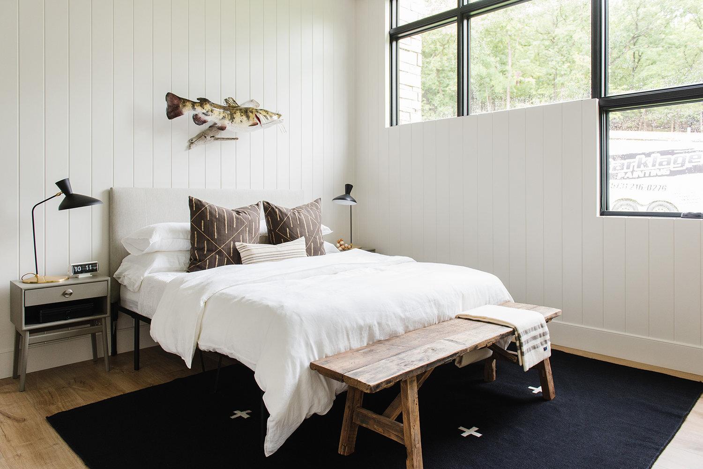 Studio McGee - Modern Lake House - Lake House Bedroom