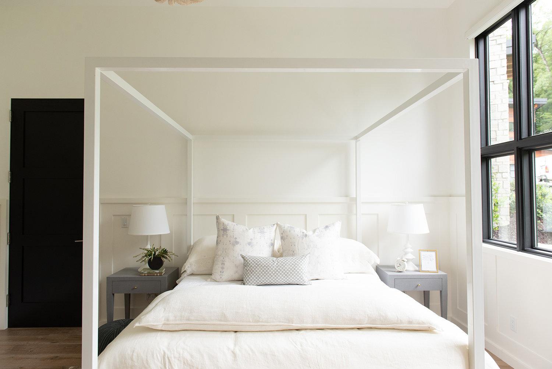 Studio McGee - Modern Lake House - Serene Bedroom