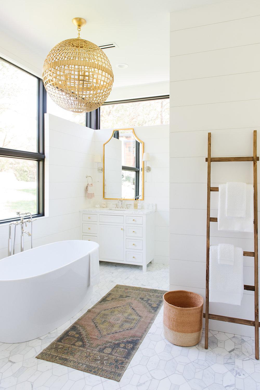 Studio McGee - Modern Lake House - Bathroom Tub