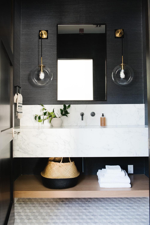 Studio McGee - Modern Lake House - Powder Room