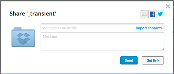 """From the web, you can copy the link with """"Get link,"""" or share it directly from the interface."""
