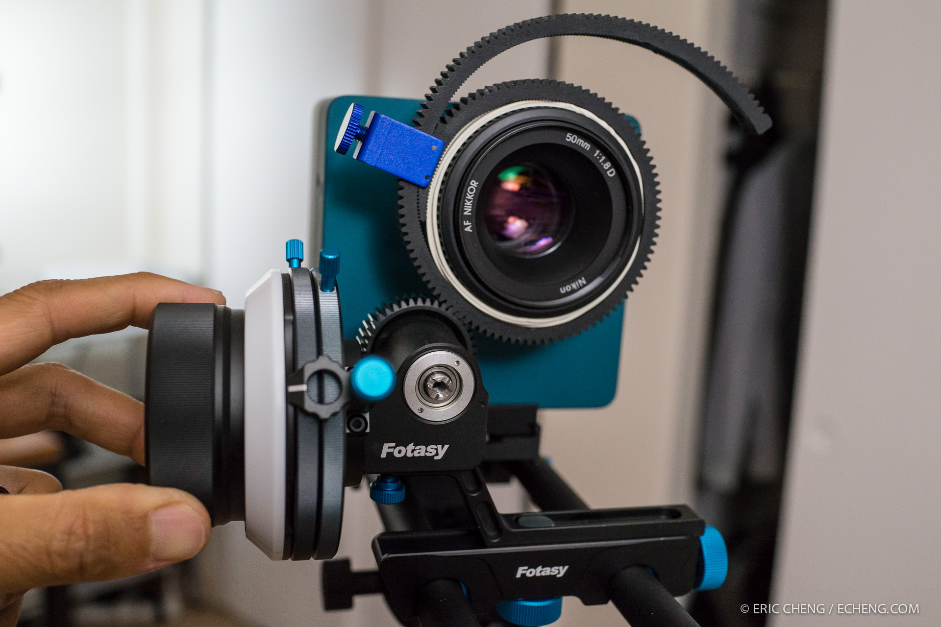 edgertonic high-speed camera with EzFoto Fotasy follow focus and 15mm rail system.