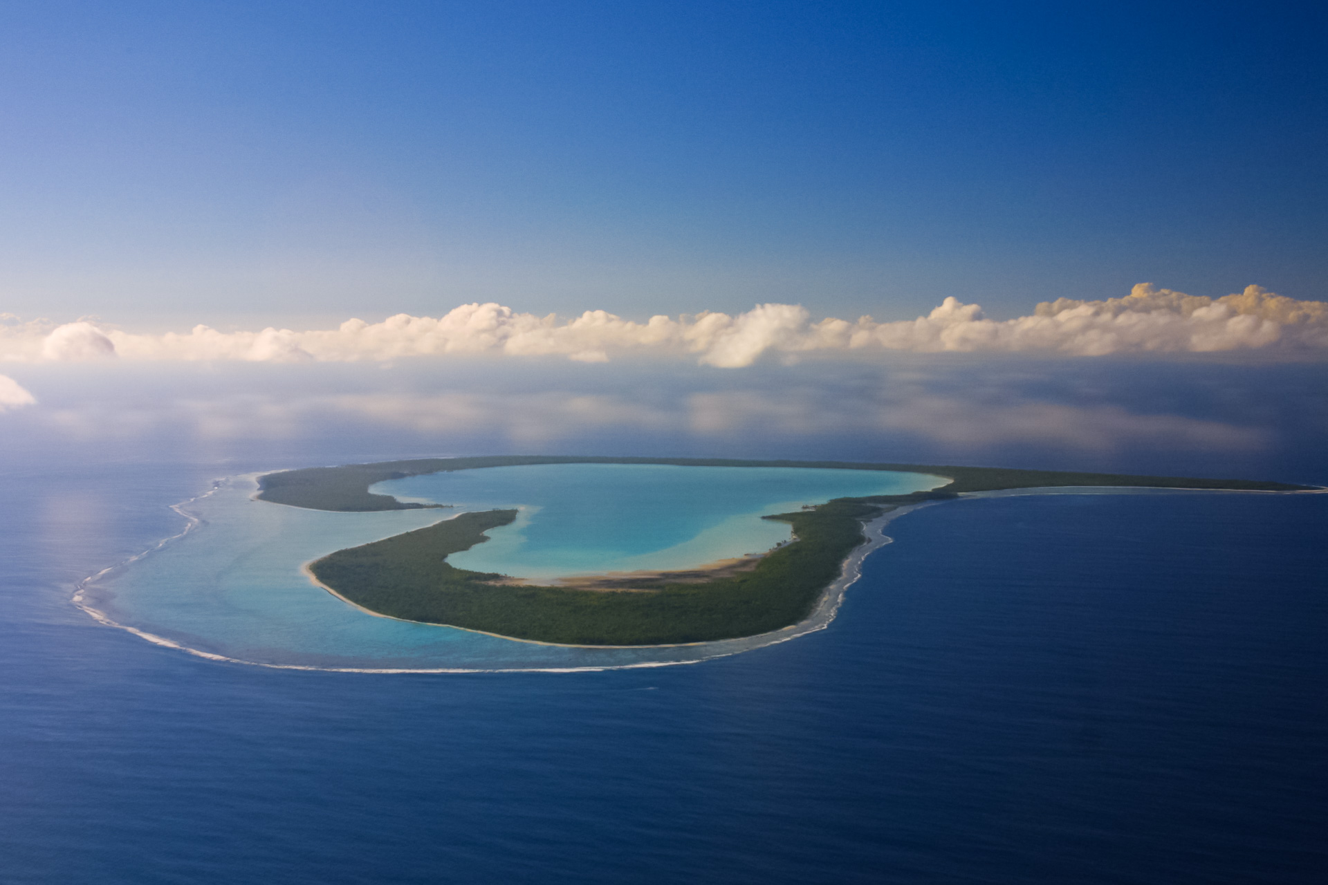 The heart-shaped island of Tupai
