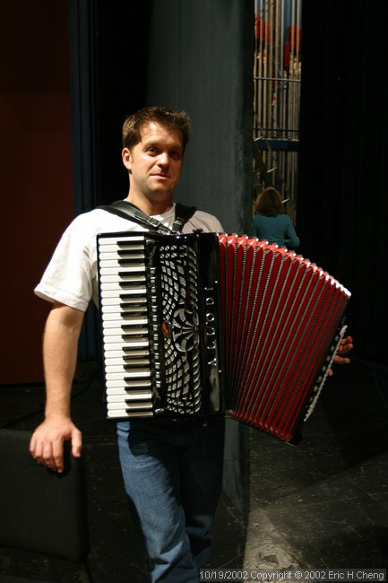 Michael, with his cool, modified accordian