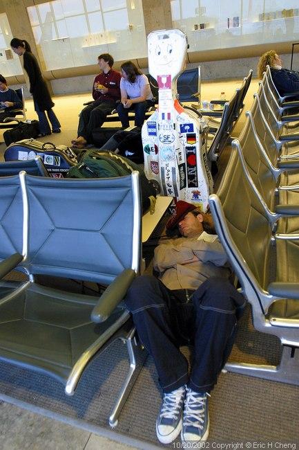 Geoff Nuttall, sleeping