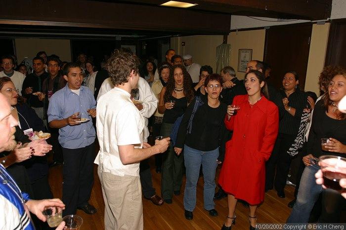 Chorus members sing to Ruskin for his birthday
