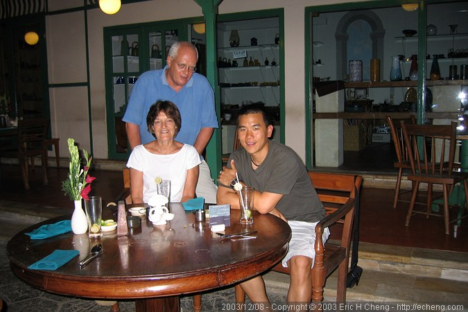 Dinner with Robert Delfs and his wife, at a delicious restaurant in Sanur